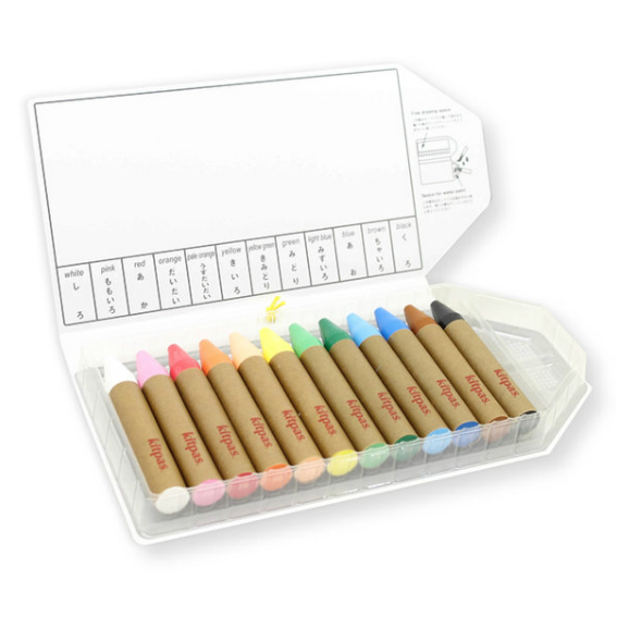 Kitpas Multi-Surface 12 Piece Large Crayon Set