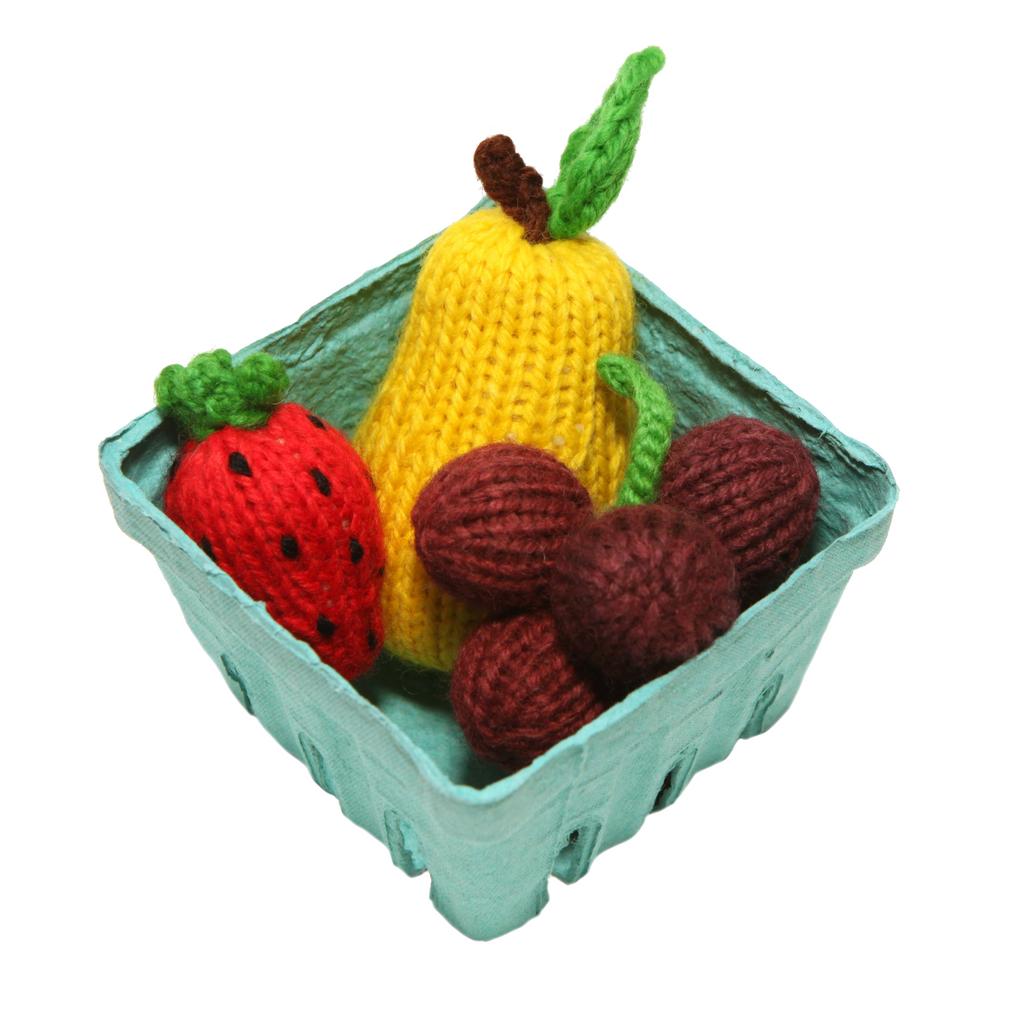 Knit 3 Piece Fruit Set