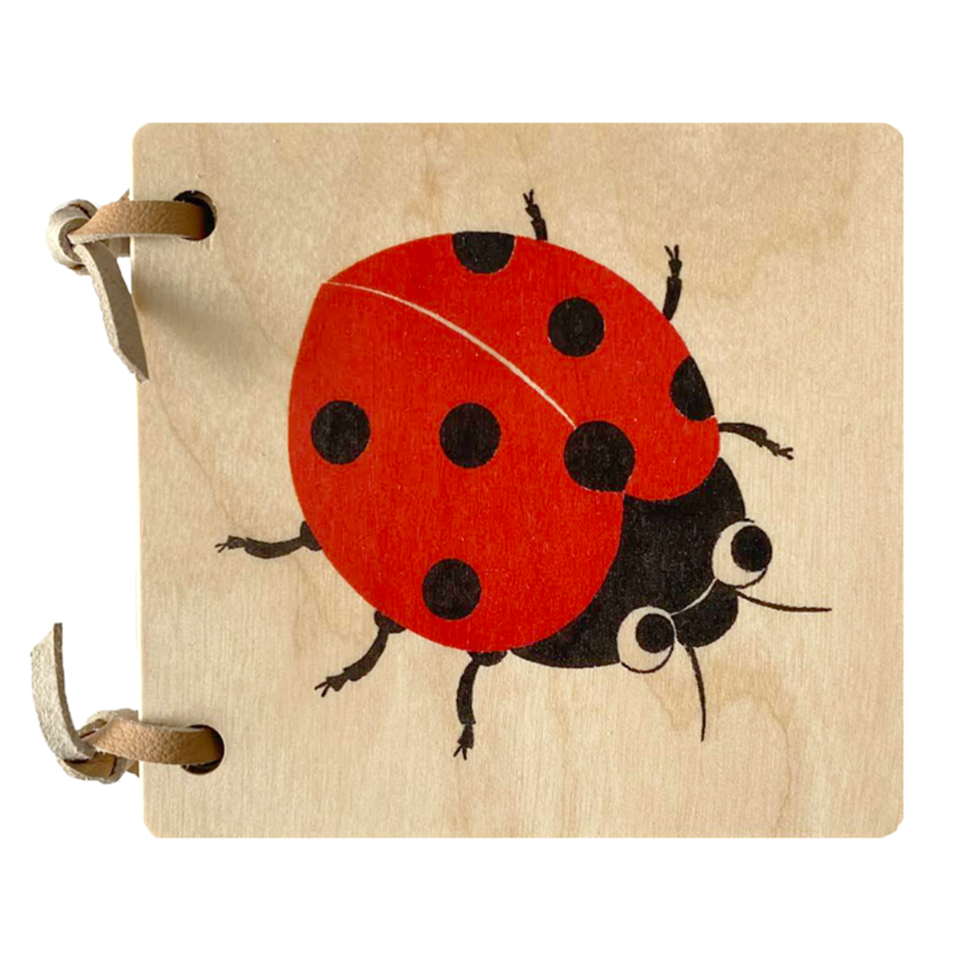 Wooden Picture Book with Ladybug Cover