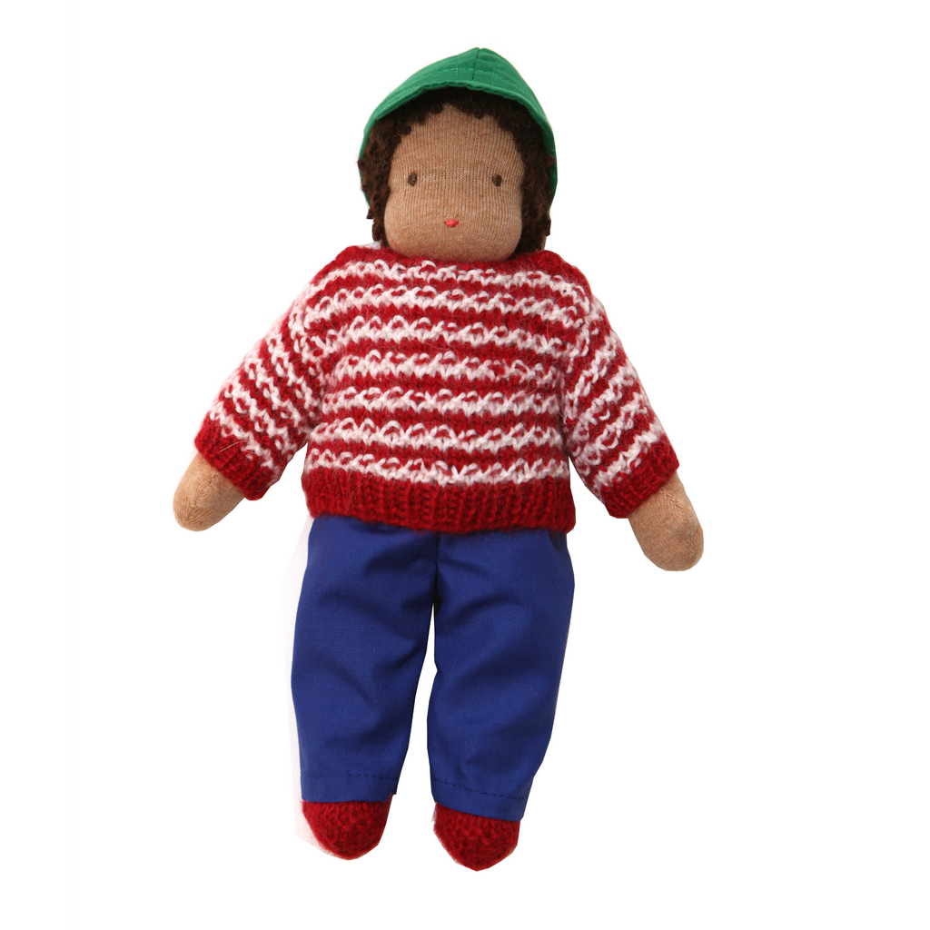 Waldorf Doll  · Brown Striped Sweater Boy