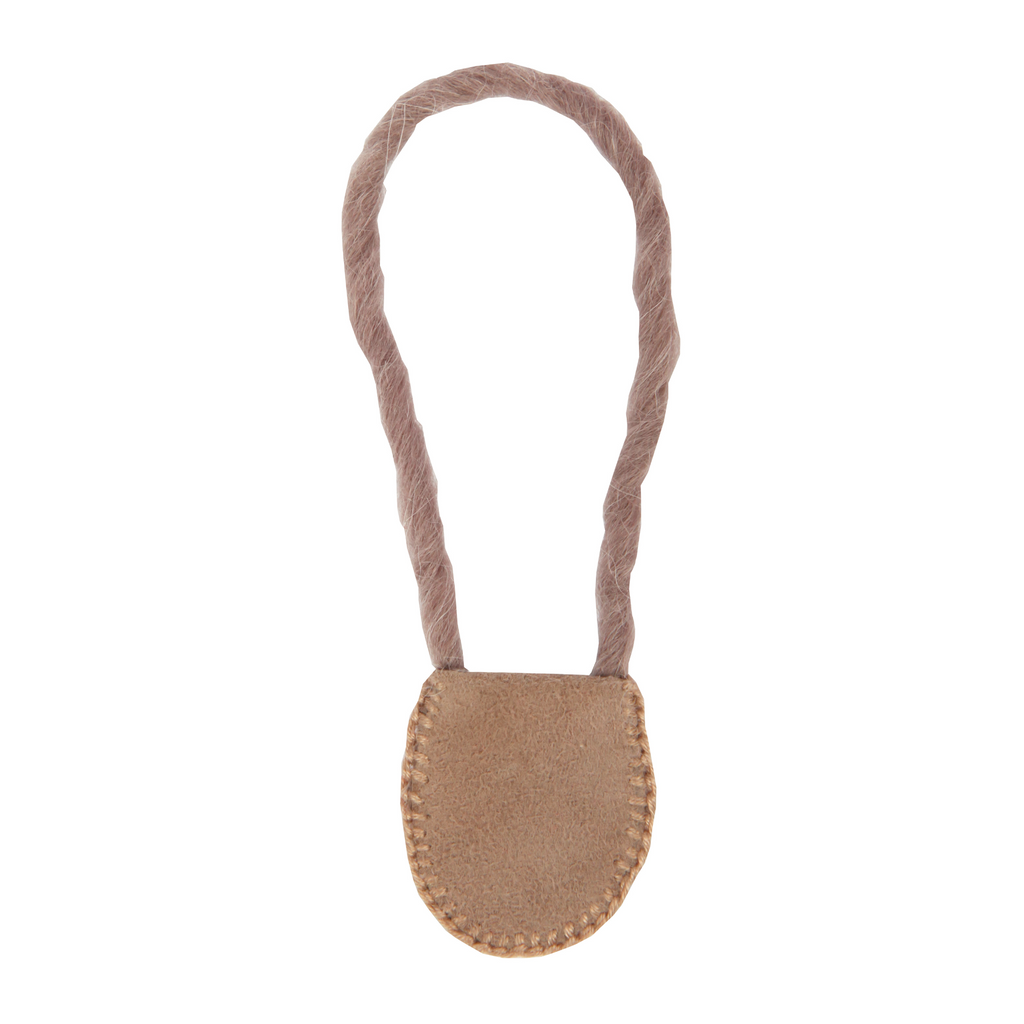 "Leather Pouch Necklace for 6"" Waldorf Dolls"