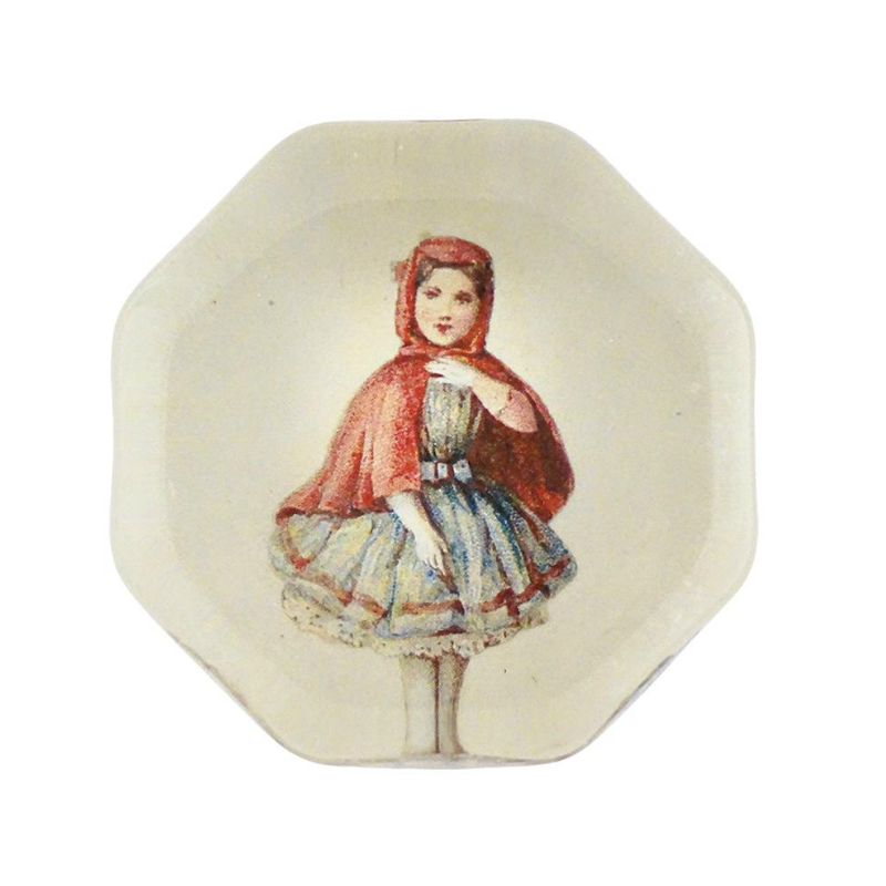 John Derian Little Red Octagonal Charm