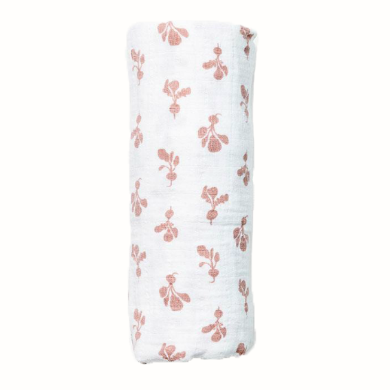Lewis Mini Mauve Radish Swaddle