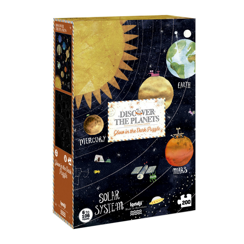 Londji Discover the Planets Glow in the Dark 200 Piece Puzzle