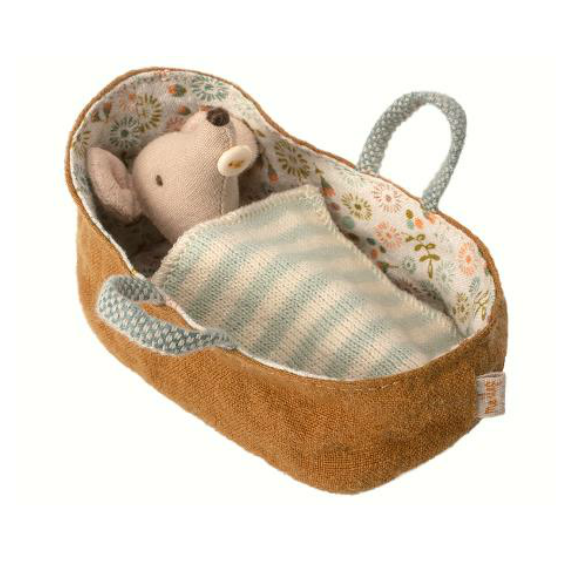 Maileg Baby in Carrying Cot