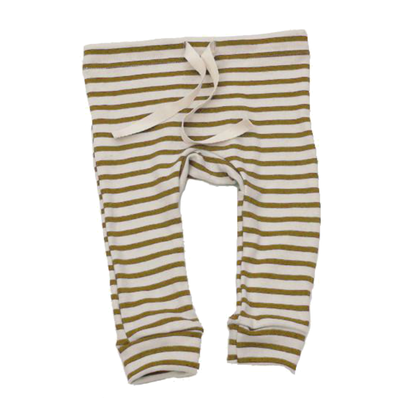 Mabo Chartreuse Striped Leggings