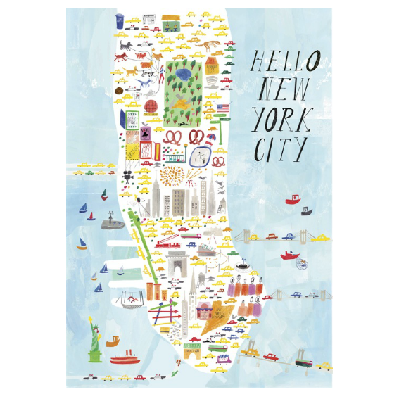 Hello New York City Art Print