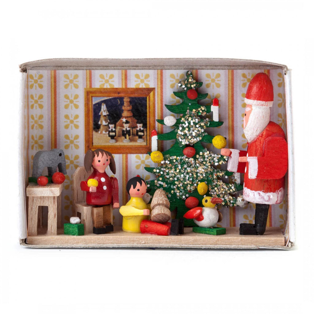 Meeting Santa Decorative Matchbox