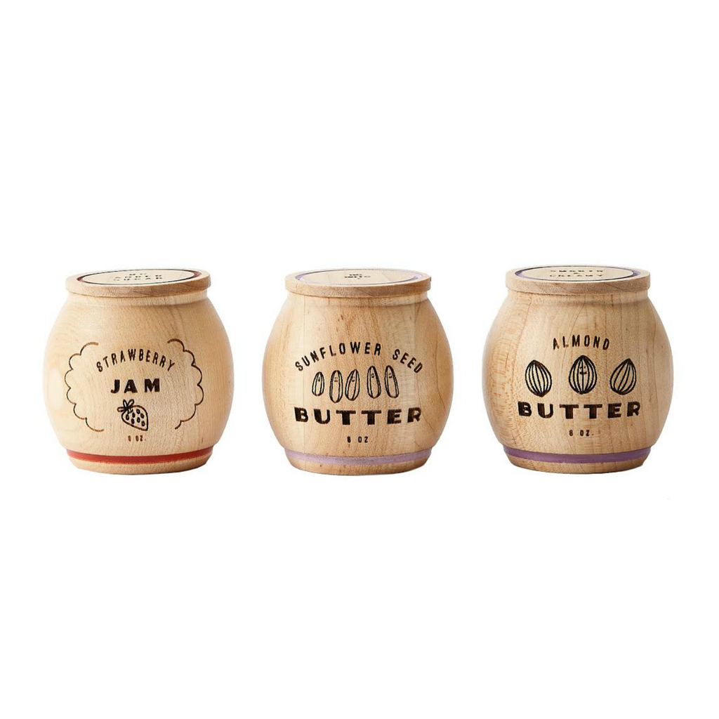 Wooden Nut Butter and Jam Set