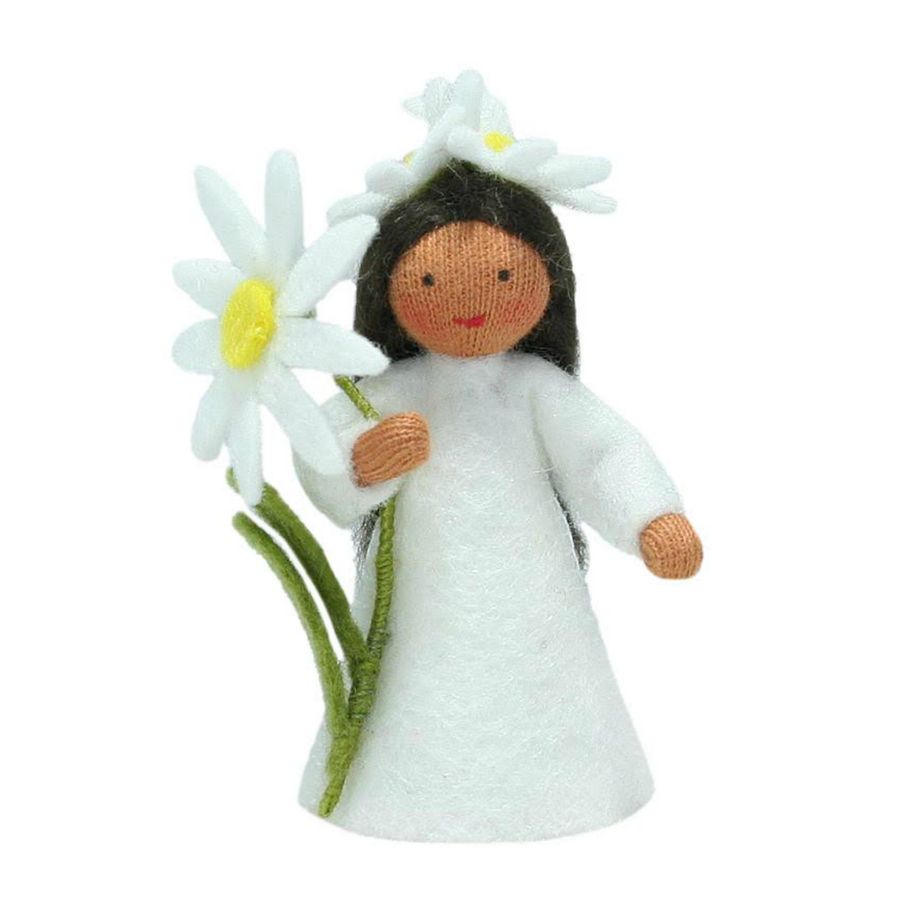 Daisy Fairy with Flower in Hand · Brown
