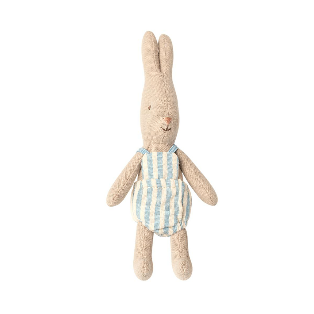 Maileg Micro Bunny in Striped Romper