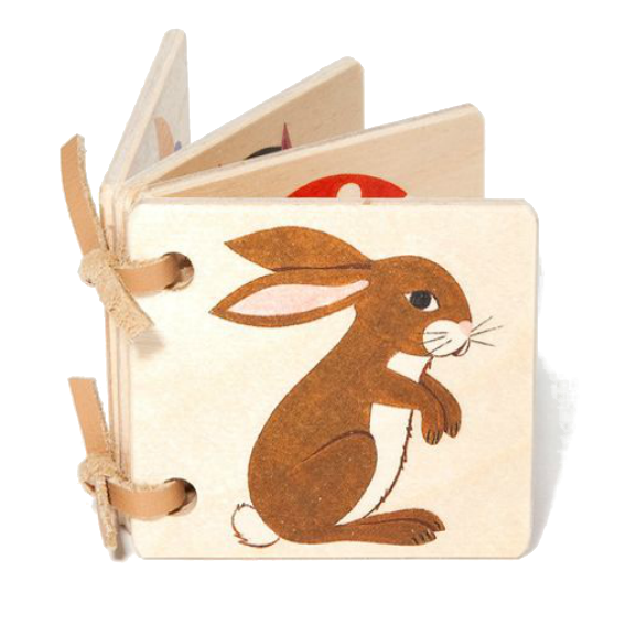 Miniature Wooden Picture Book  · Bunny