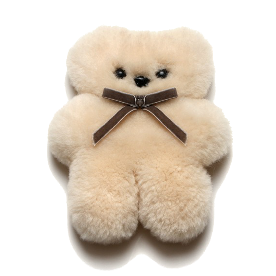 Mini Sheepskin Cuddle Bear · Natural