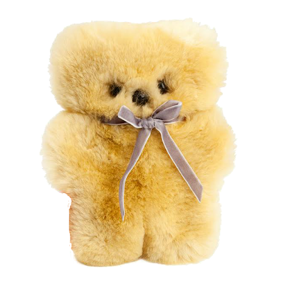 Mini Sheepskin Cuddle Bear · Honey