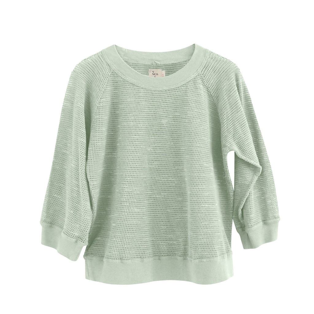 Nico Nico Mint Abby Mesh Pullover