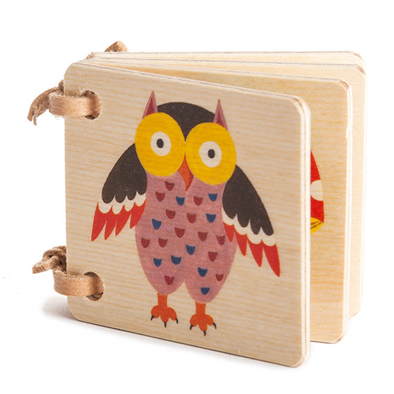 Miniature Wooden Picture Book  · Owl