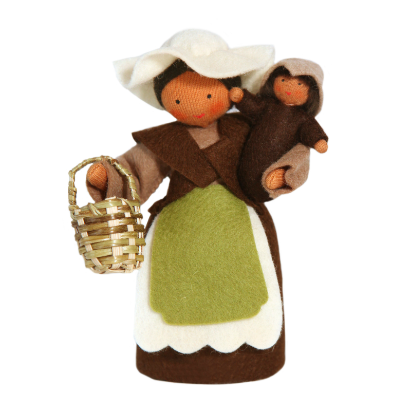 Mother Earth Doll with Baby · Brown