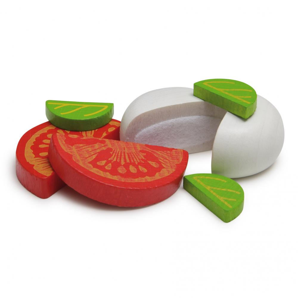 Mozzarella and Tomato Appetizer in a Tin