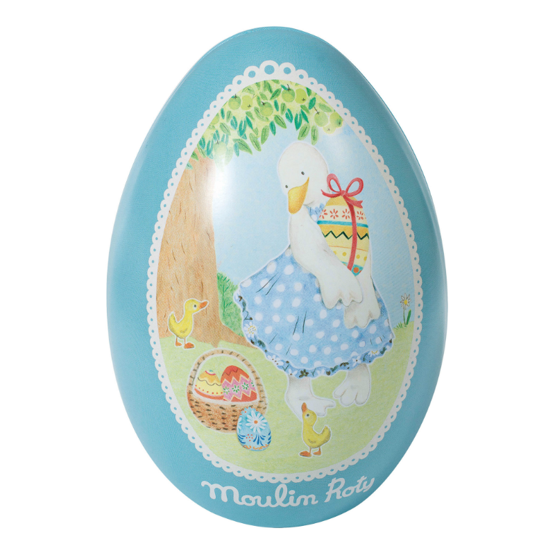 Moulin Roty Blue Tin Easter Egg