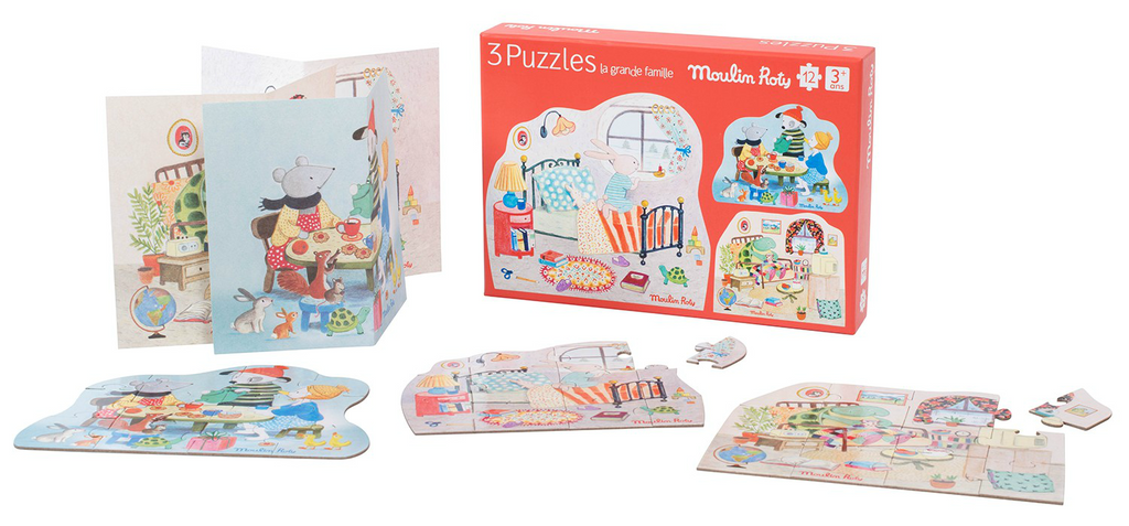 Moulin Roty Set of 3 Puzzles