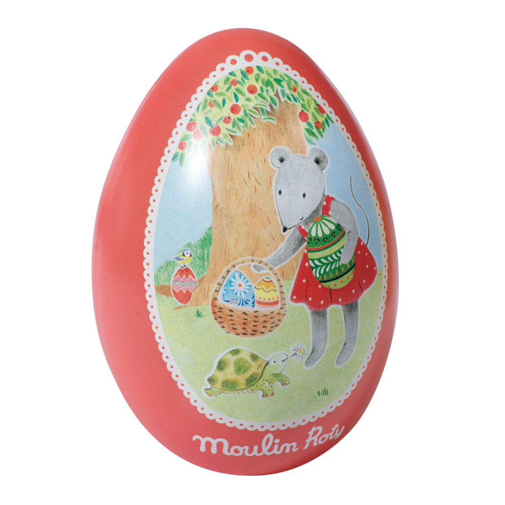 Moulin Roty Red Metal Easter Egg