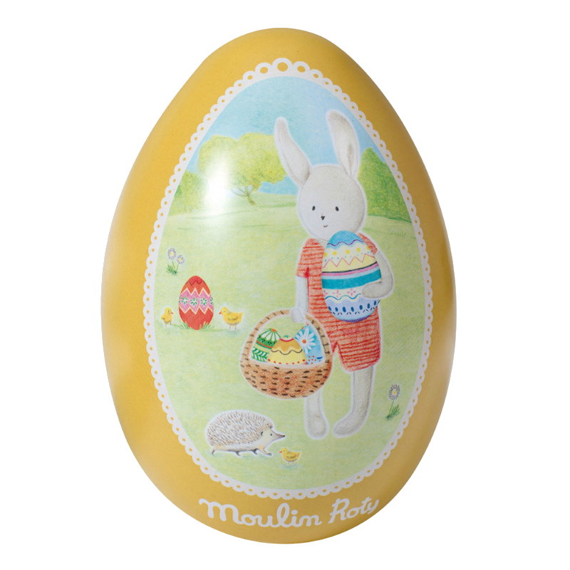 Moulin Roty Yellow Metal Easter Egg