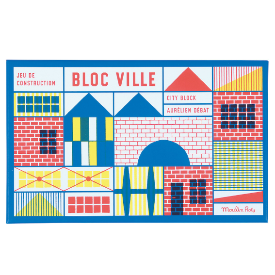 Moulin Roty 40 Piece City Block Set