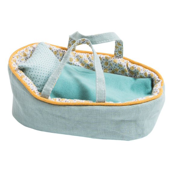 Moulin Roty Small Blue Doll Bed