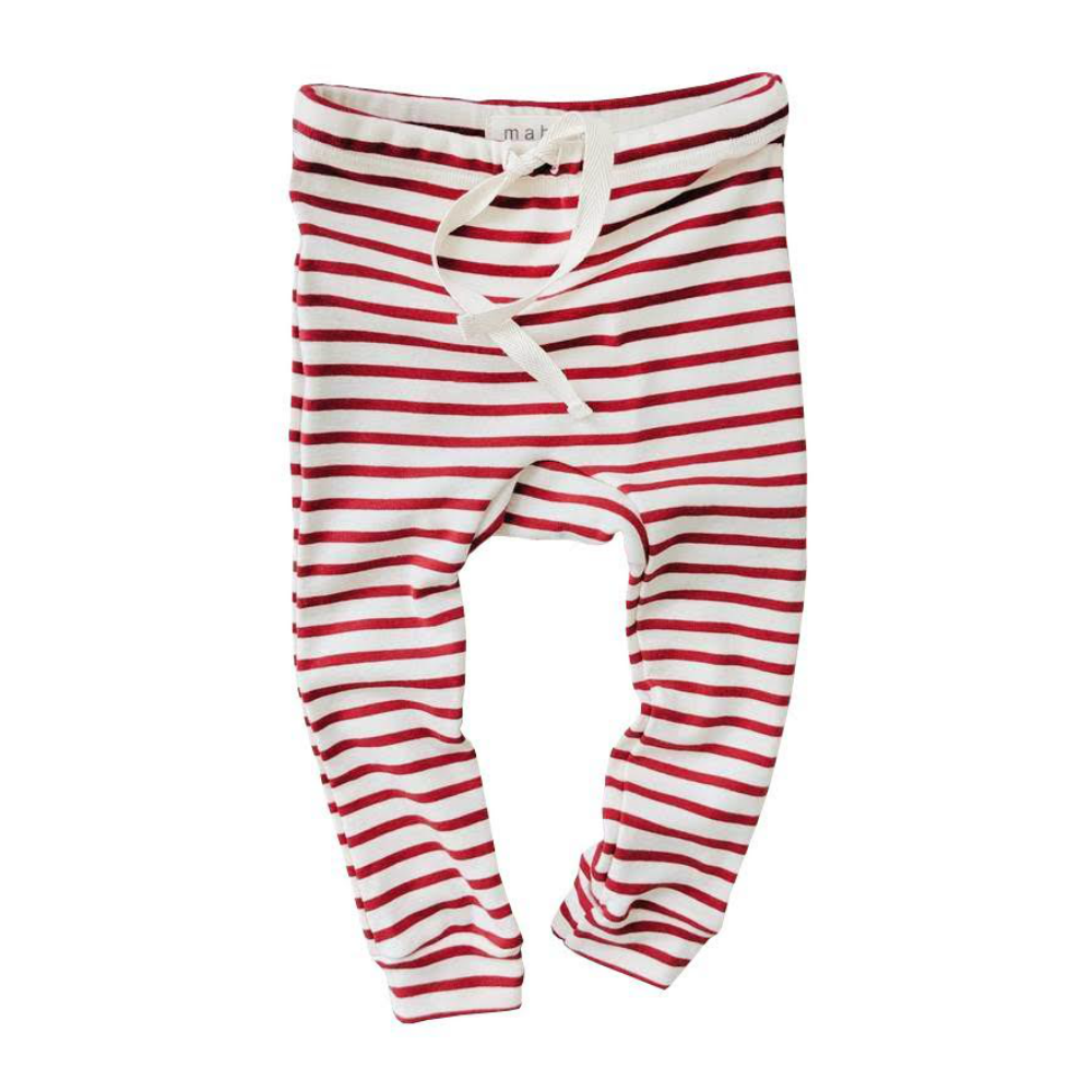Mabo Scarlet Striped Leggings