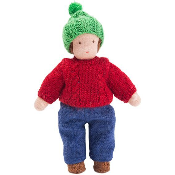Waldorf Doll  · Medium Skin Boy in Red Sweater