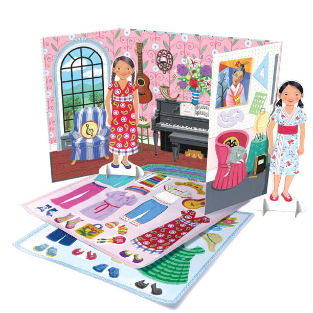 Eeboo Musician and Artist Paper Doll Set