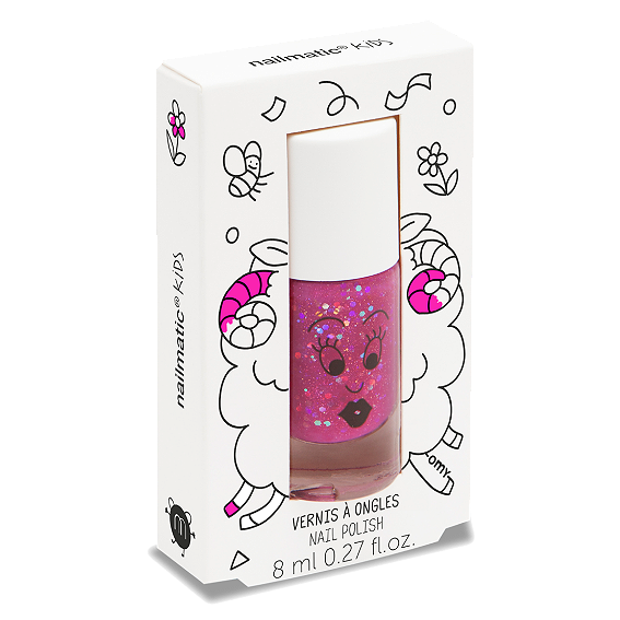 Nailmatic Sheepy Raspberry Glitter Nail Polish