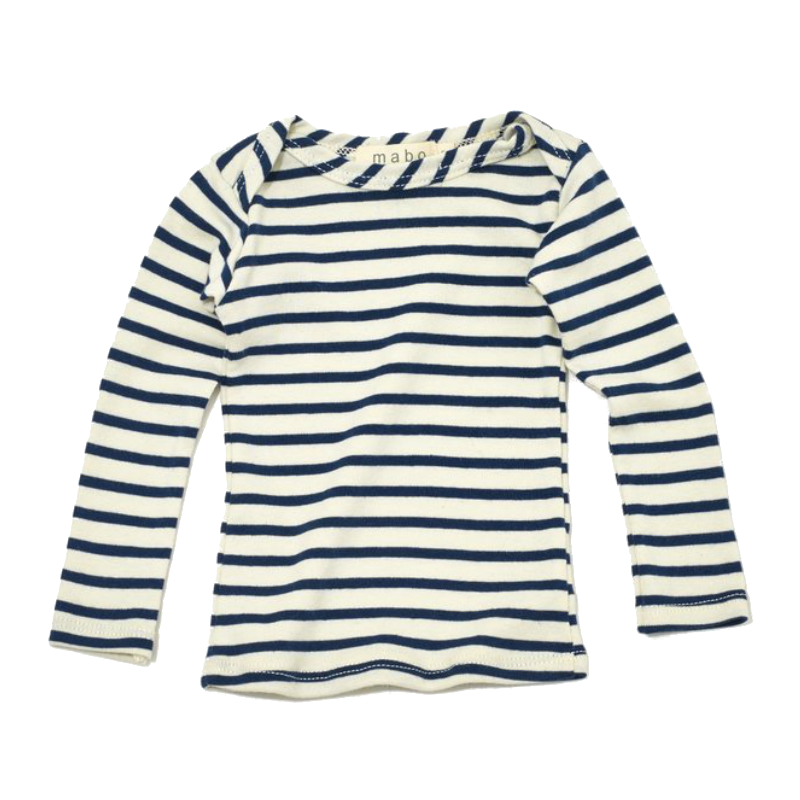 Mabo Azure Blue Striped Long Sleeve Tee