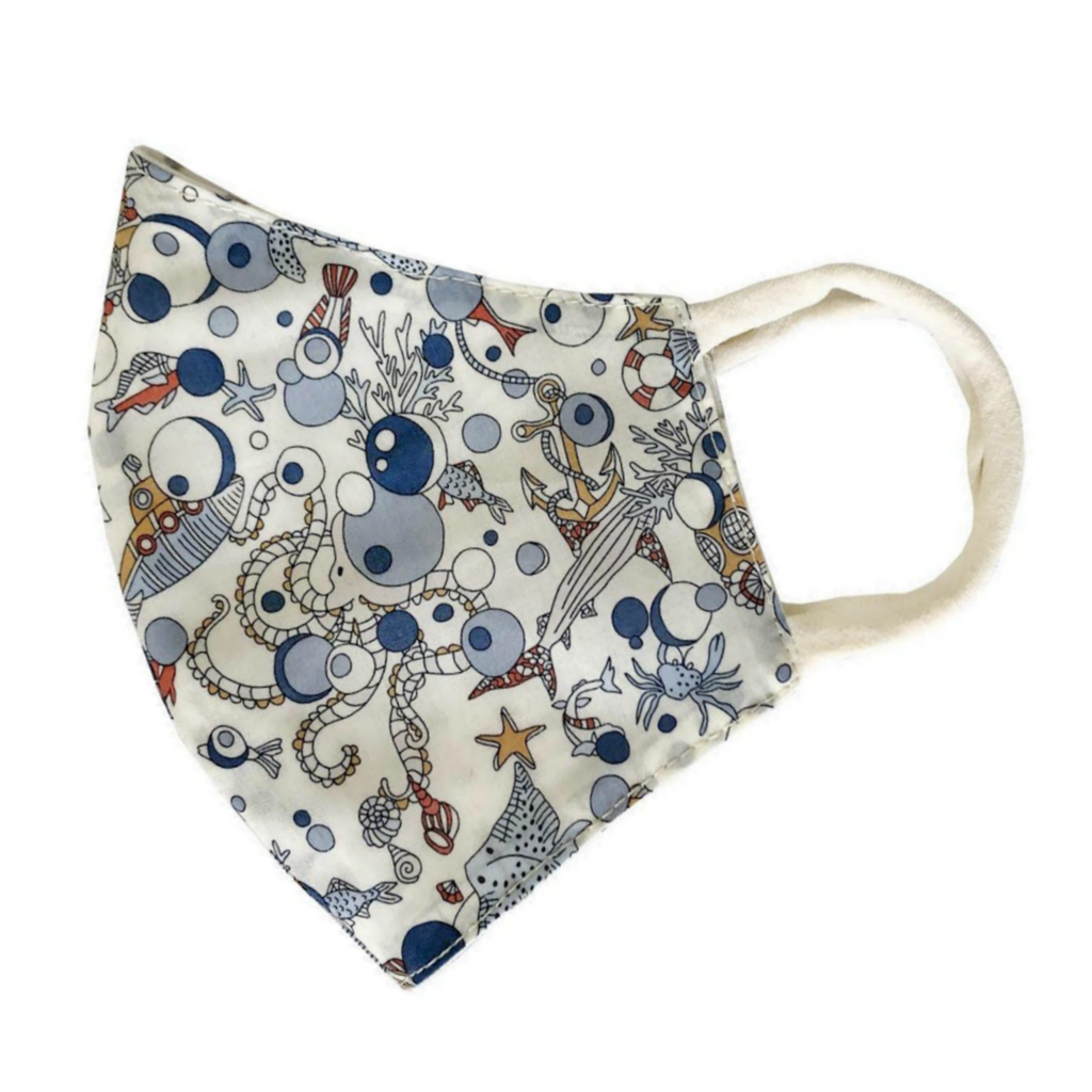 Blue Nautical Liberty of London Child's Face Mask
