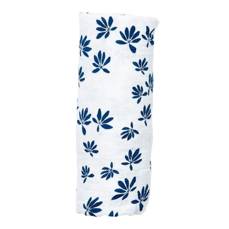 Lewis Captain's Blue Palm Swaddle