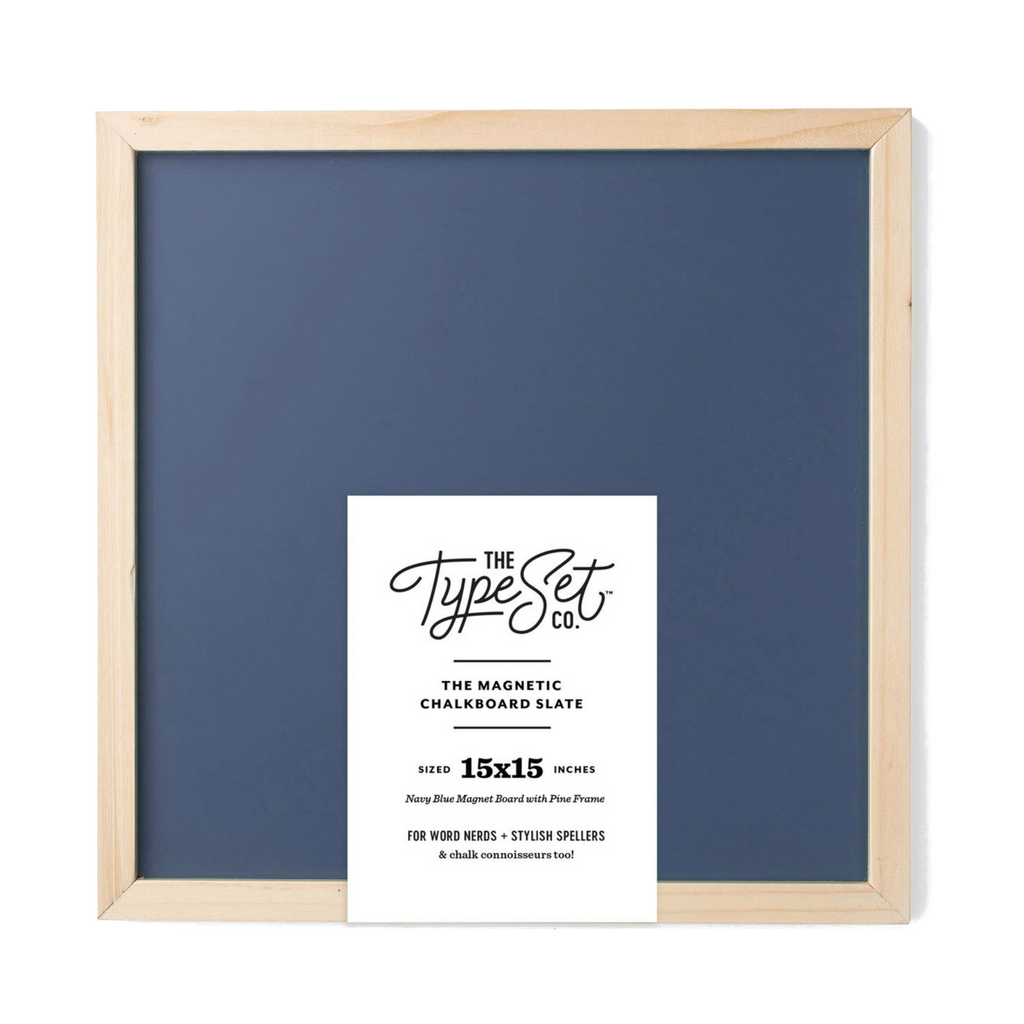 The Type Set Navy Magnetic Letter Slate