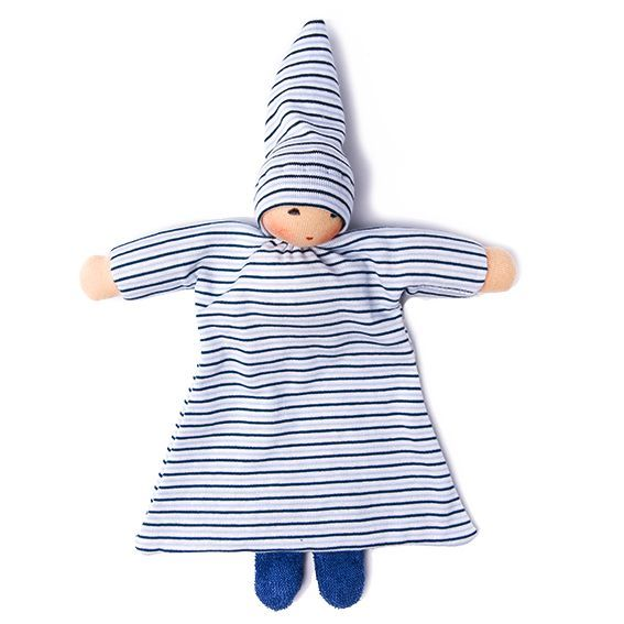 Organic Blue Striped Blanket Baby