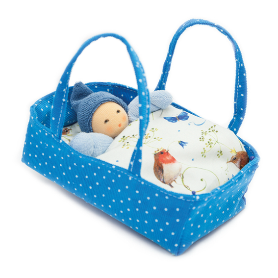 Doll and Blue Bed Set