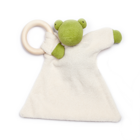 Organic Frog Blanket Teether