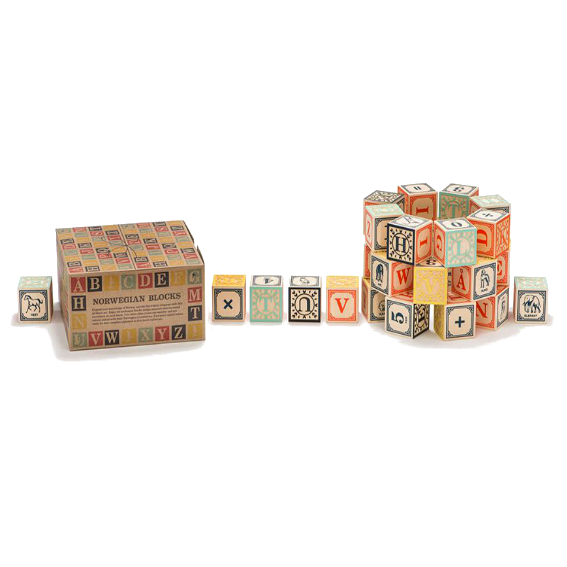 Uncle Goose Norwegian Alphabet Blocks