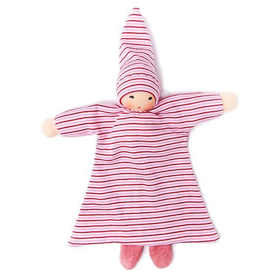 Organic Pink Striped Blanket Baby