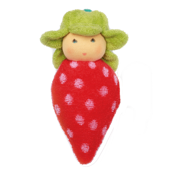 Organic Strawberry Doll Rattle