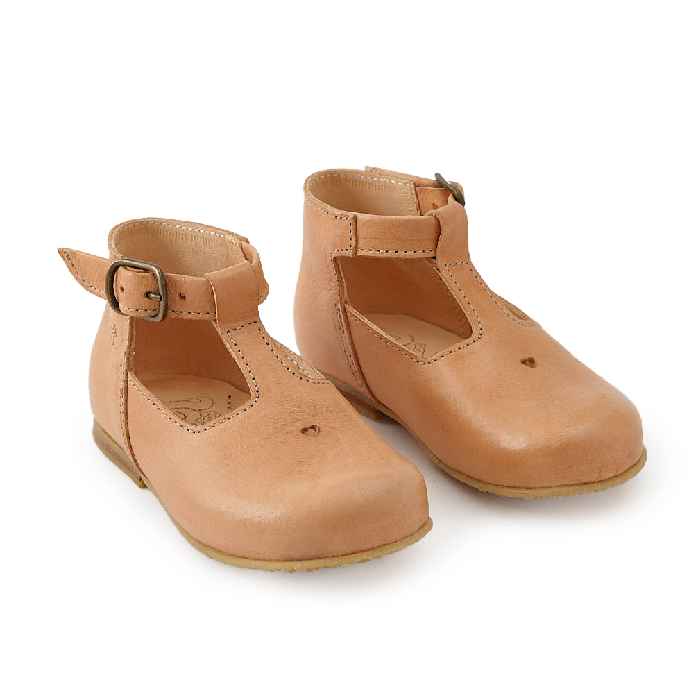 Nathalie Verlinden Tan T-Strap Shoe