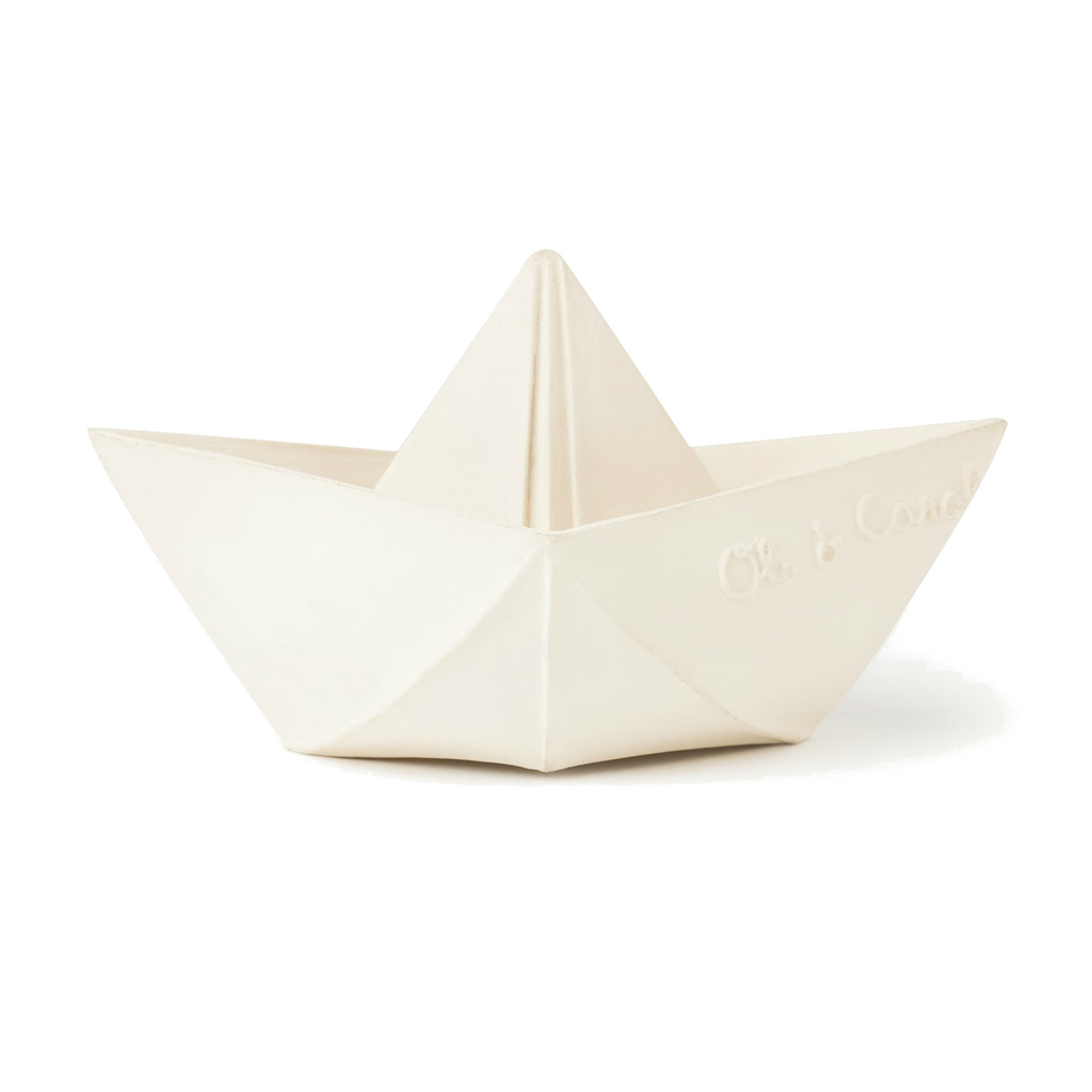 Oli and Carol White Origami Ship