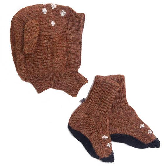 Oeuf Bambi Hat and Bootie Set - 6-12 months