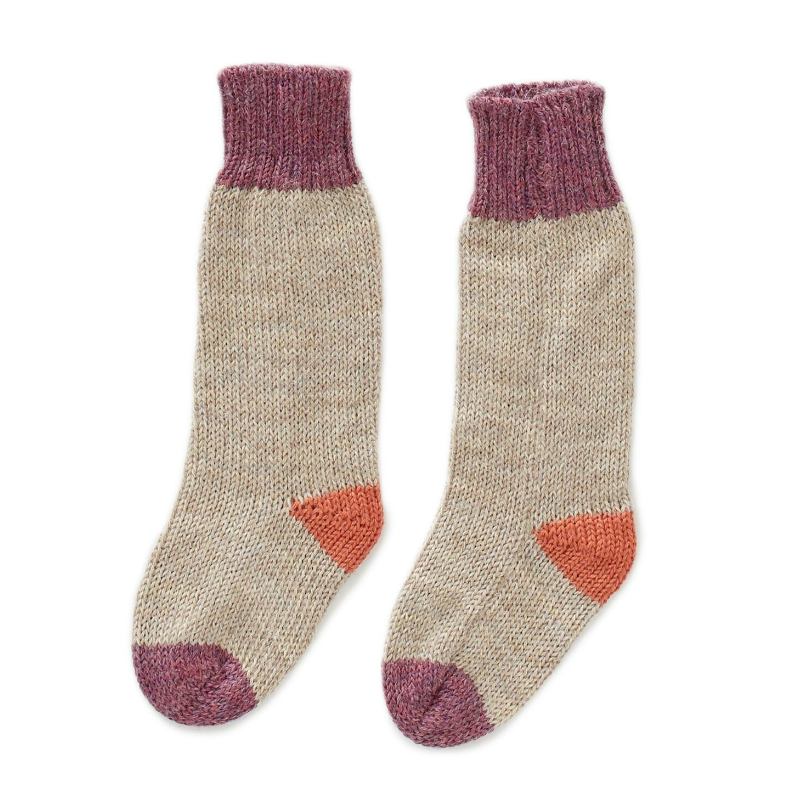 Oeuf Grey and Mauve Long Socks