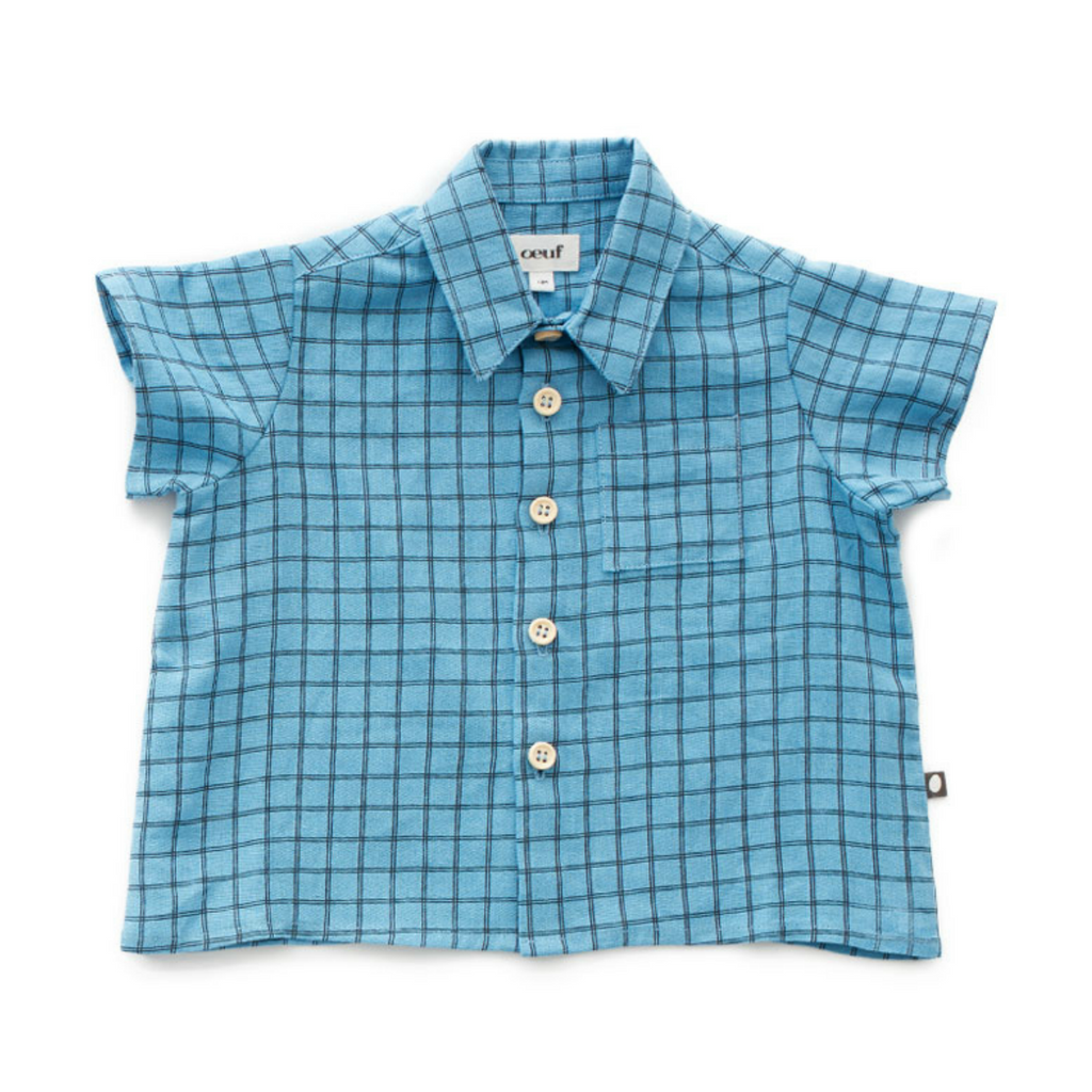 Oeuf Blue Grid Button Down