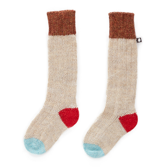 Oeuf Multicolored Pink Long Socks