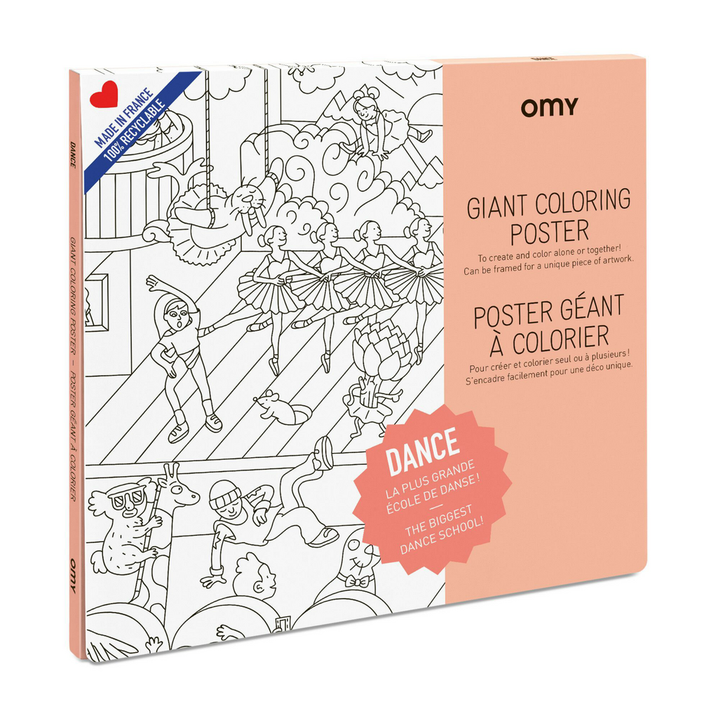 OMY Dance Coloring Poster