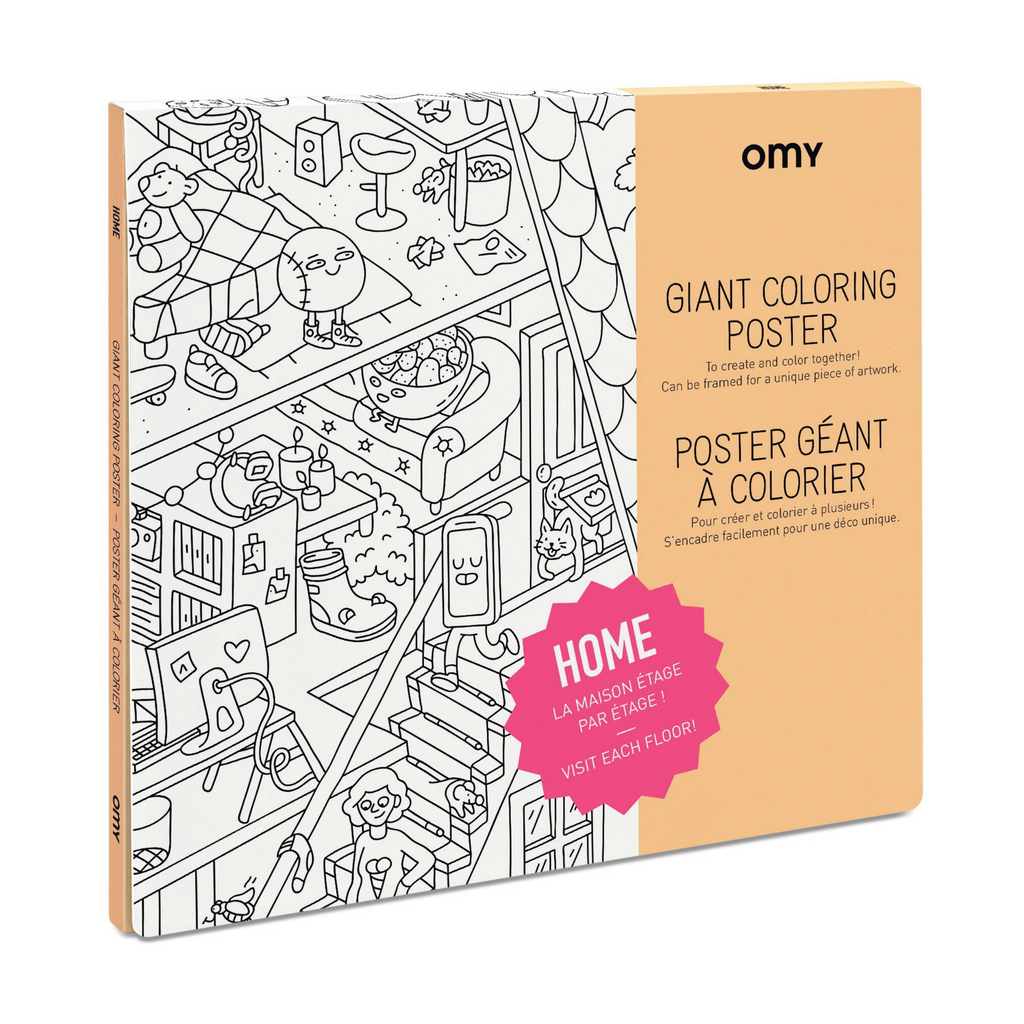 Omy Home Coloring Poster